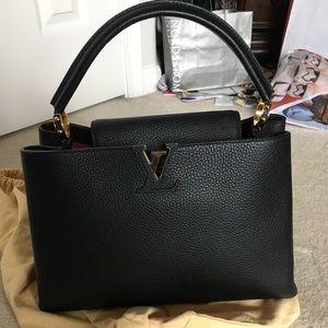 Louis Vuitton Capucines MM Black bag